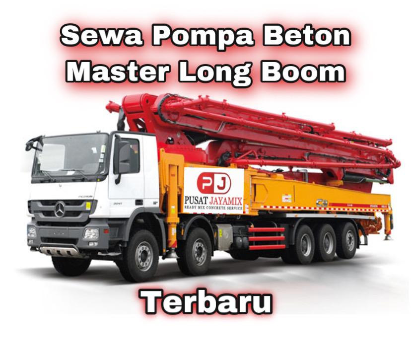 HARGA SEWA POMPA BETON MASTER LONG BOOM